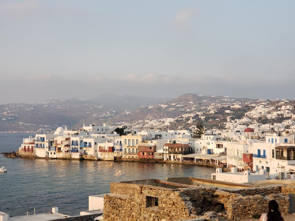 Little Venice and the harbor in Mykonos photo by Tracy Cahill