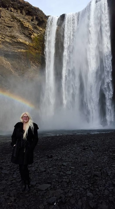 Tracy Cahill at Skagafoss in South Iceland by Candace Nicole Photography