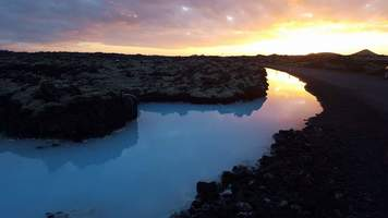 The Blue Lagoon at Sunset shot by traveler Tracy Cahill in Iceland